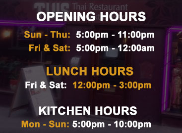 Tuis of Malton - Opening Hours