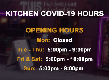 Covid-19 Kitchen Hours
